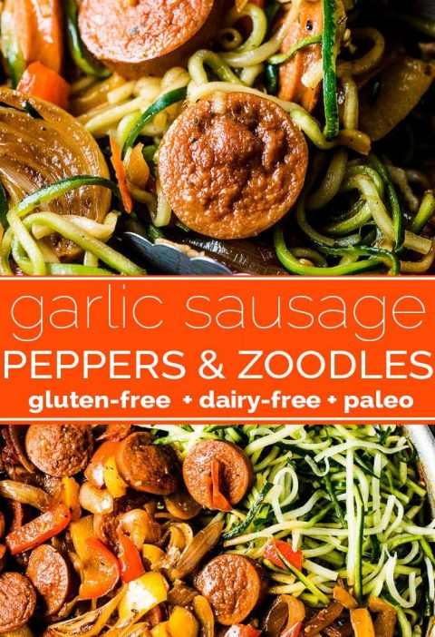 Sausage and Peppers with Zoodles