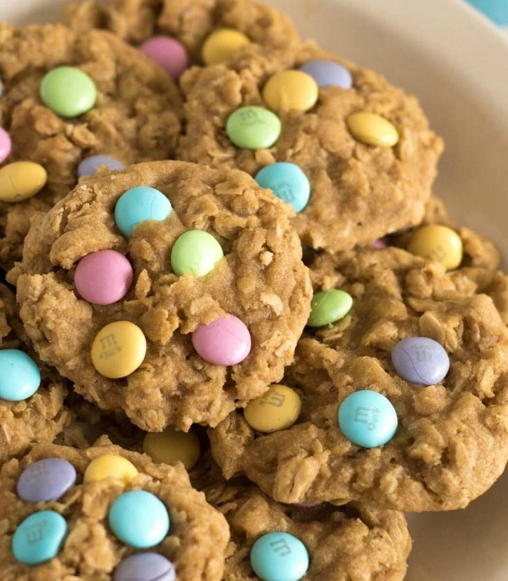Springy M&M's Oatmeal Cookies