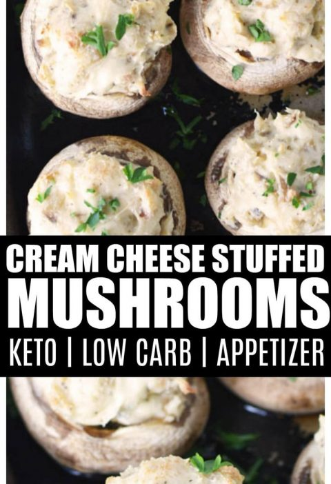 Stuffed Mushrooms with Cream Cheese (KETO, Low Carb)