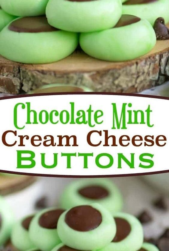 These Chocolate Mint Cream Cheese Buttons are perfect for all occasions! Lovely ...
