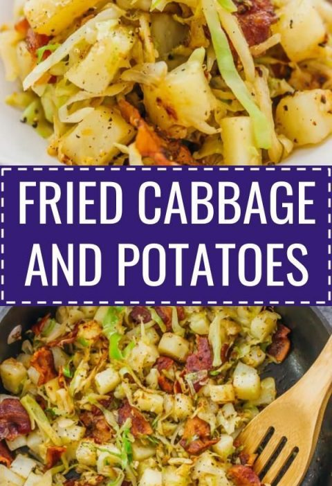 This is a really easy fried cabbage and potatoes recipe with crispy bacon. Only ...