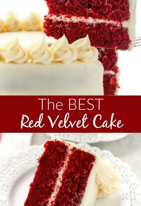 This is my favorite Red Velvet Cake recipe! This cake is incrediblysoft, moist...