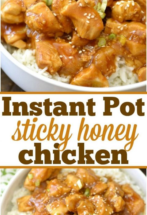 This spicy honey Instant Pot chicken just takes 4 minutes to cook and comes out ...