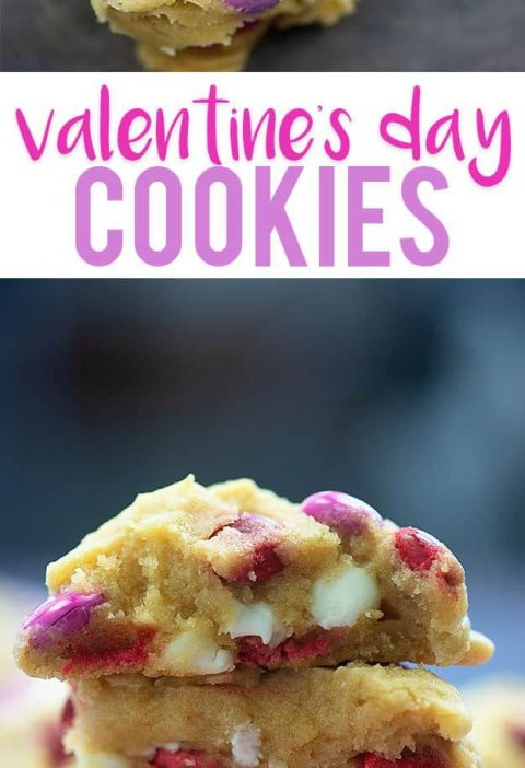Valentine's Day Cookies - so easy and these are the thickest, chewiest cookies e...