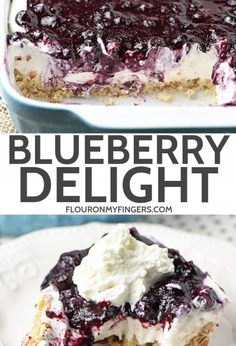 Whip up a dreamy blueberry delight. Easy recipe for a no bake blueberry dessert,...