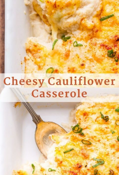 Add this Cheesy Cauliflower Casserole to your holiday menu for a delicious side ...