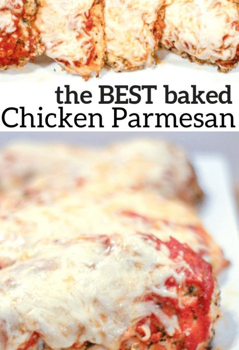 Baked Chicken Parmesan - Low Carb, Keto, Grain-Free, Gluten-Free, THM S - Chicke...