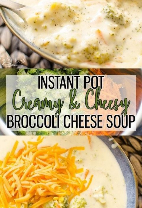 Instant Pot Broccoli Cheese soup is a creamy, flavorful soup that is literally r...