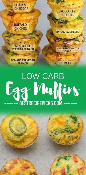 Low Carb Egg Muffin make the perfect breakfast for on the go. They're packed w...