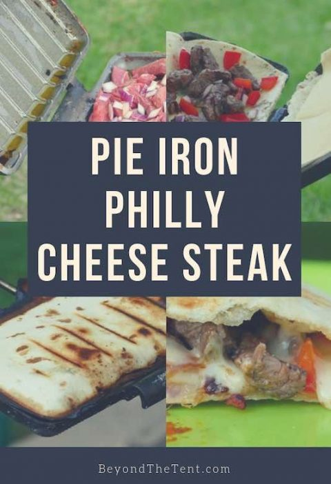 Pie Iron Recipes: Philly Cheese Steak Quesadilla