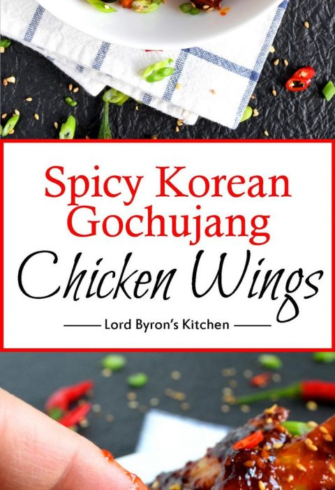 Spicy Korean Gochujang Chicken Wings - Perfectly baked chicken wings which have ...