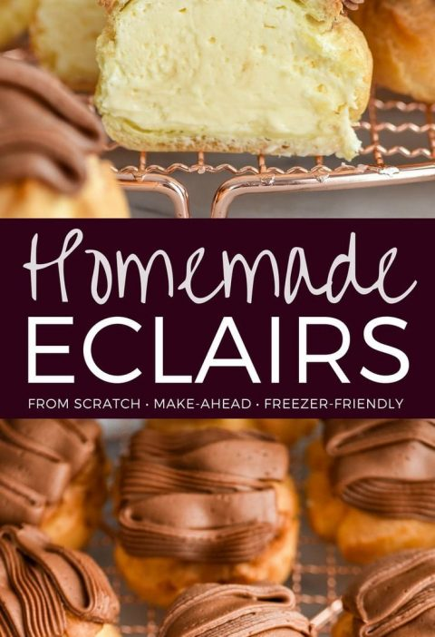 This is seriously the Best Eclairs Recipe ever! The pastry  and frosting are mad...