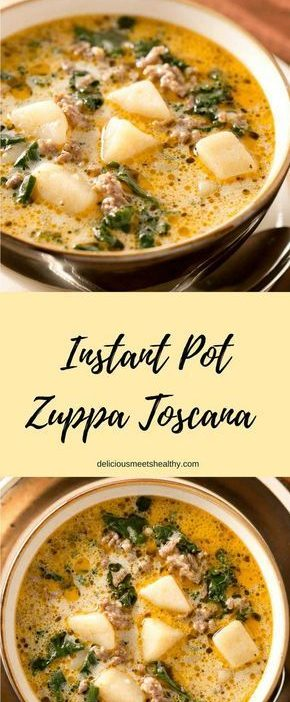 This rich and hearty Instant Pot Zuppa Toscana is comfort food at its best. It i...