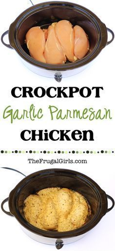 Crock Pot Garlic Parmesan Chicken Recipe! ~ from TheFrugalGirls.com ~ make dinne...