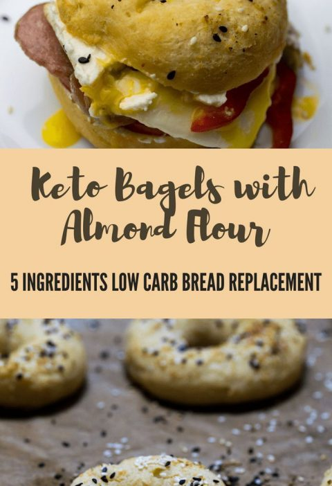 Keto Bagels with Almond Flour - Low Carb 5 ingredients keto bread replacement