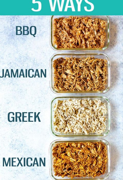 These Shredded Chicken Recipes are perfect for meal prep - I'm giving you 5 flav...
