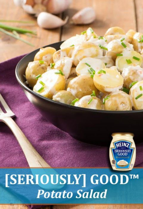Upgrade your potato salad with HEINZ [SERIOUSLY] GOOD mayonnaise and serve only ...