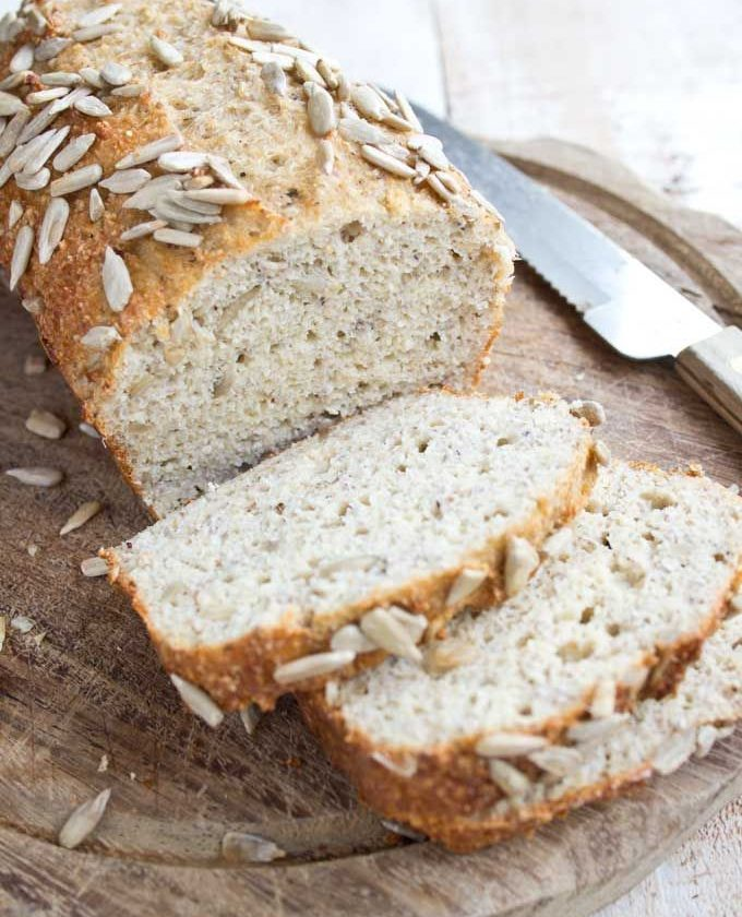 An easy everyday low carb bread with a texture just like whole-wheat bread. This...