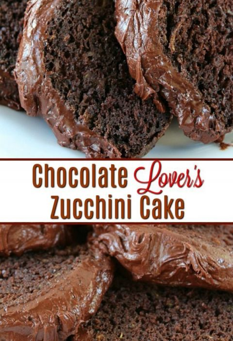 Chocolate Lover's Zucchini Cake is pure chocolate heaven. So chocolaty and a dec...