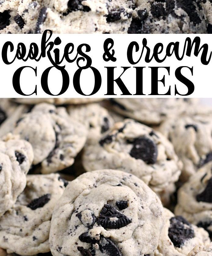 Cookies & Cream Cookies are made with pudding mix and Oreo cookies for a perfect...