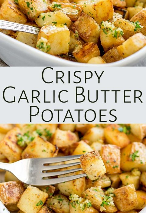Crispy potatoes drizzled with rich garlic butter! These Brabant Potatoes are a N...