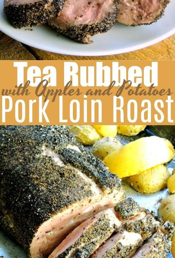 Tea Rubbed Pork Loin with Apples and Potatoes - This pork loin recipe with apple...