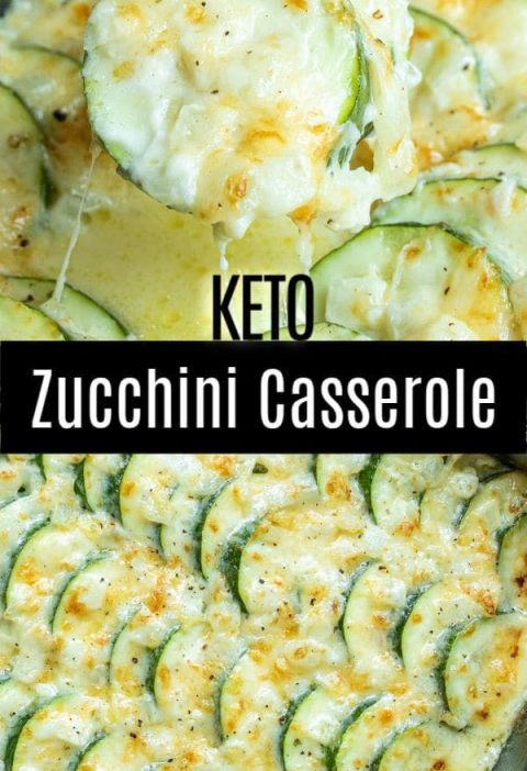 This creamy, cheesy Baked Zucchini Casserole is made with fresh zucchini, rich c...