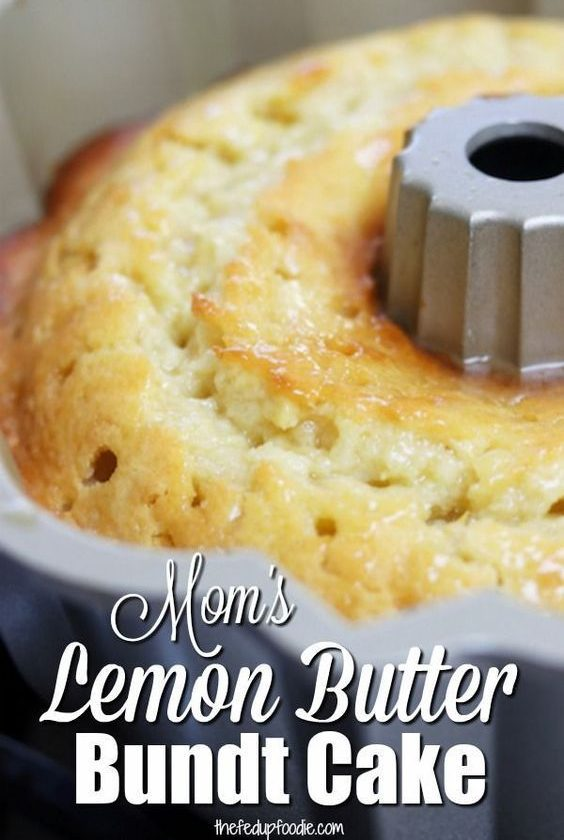 Mom's Lemon Butter Bundt Cake