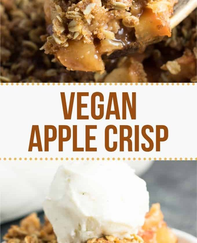The best vegan apple crisp recipe - so easy to make and everybody loves it! #veg...
